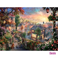 [AEES] 1000PCS Jigsaw Puzzles Educational Toy Scenery Quiet Town Adult Kid Puzzle BGG