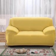 [ผ้าคลุมโซฟา] ปลอกหุ้มกันลื่นแบบยืดได้ 1 2 3 4 ที่นั่งสีเหลือง