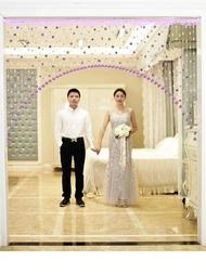 珠簾 玫瑰珠子門簾水晶珠簾隔斷客廳過道裝飾塑料可愛懸掛開運風水懸掛
