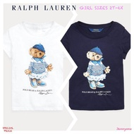RALPH LAUREN RIVIERA BEAR COTTON TEE ( GIRLS SIZE 2T-6X )