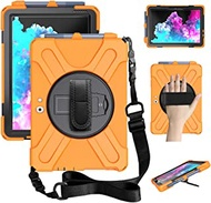 "ZenRich Surface Go 2 Case 2020, zenrich Surface Go Case 2018 with Pen Holder Heavy Duty Shockproof Rugged Case with Stand Hand Strap Shoulder Belt for Surface Go 2 2020 / Surface Go 10"" 2018-Orange"