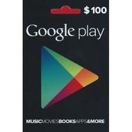 3580元 超商繳費 美國 Google Play Gift Card $100 美元 禮物卡