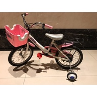二手 16吋兒童腳踏車自行車含輔助輪