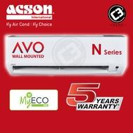 (KLANG VALLEY) Acson 1.0HP 1.5HP 2.0HP 2.5HP Aircond AVO Series - Non Inverter (R32)