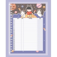 COD New Arrival Vocabulary Theme notebook binder w/ colorful cartoon refill 20 holes / 26 holes free ruler