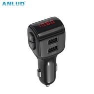 ANLUD Bluetooth 5.0 FM Transmitter Wireless Bluetooth Car Kit Car MP3 Player FM Modulator Bluetooth Dual USB Charger