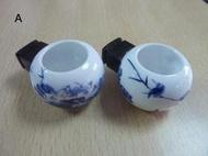 相思 白文 綠繡眼 小型鳥籠 飼料杯 鳥杯 水杯 青花 水墨畫 陶瓷材質
