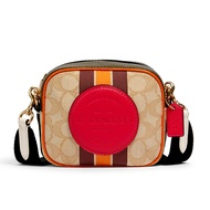กระเป๋าสะพายข้าง COACH 2635 MINI DEMPSEY CAMERA BAG IN SIGNATURE JACQUARD WITH STRIPE AND COACH PATCH (IMR1U)
