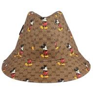 【GUCCI 古馳】迪士尼米奇防水帆布漁夫帽(S/頭圍 57 cm)