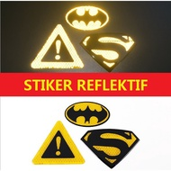 Reflective Stickers Reflective Stickers Excellent Bat Logo
