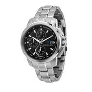 【MASERATI 瑪莎拉蒂】SUCCESSO 光動能三眼計時腕錶44mm(R8873645003)