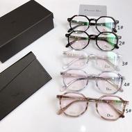 ©高端迪奧TR90板材光學眼鏡架 超輕男女用款鏡架 DIORl時尚近視鏡架 無度數平光鏡 百搭日系甜美小圓框裝9921