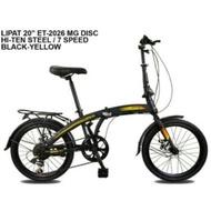 EXOTIC Sepeda Lipat Exotic ET-2026 MT Sepeda Lipat [20 Inch] HITAM KUNING