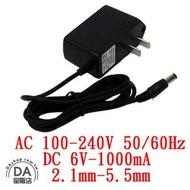 電子式變壓器 AC 110~240V to DC 6V 1000mA 內徑2.1 外徑5.5 變壓器 (19-005)