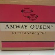 【全新】Amway QUEEN 原味迷你金鍋組 3件式鍋具 荷蘭鍋 蒸鍋 不鏽鋼鍋 安麗4公升不鏽鋼煲套組