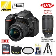 NIKON D5600 WITH 18-55MM LENS (SD Card + Camera Bag + Cleaning Kit + Tripod + Filter)