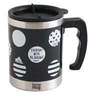 San-X 拉拉熊黑與白系列保溫杯。黑色