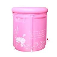 ₳便宜到哭₳加厚款超耐熱不怕破折疊可收納式泡澡浴桶(含坐墊) 浴桶 摺疊式浴缸 摺疊式浴桶