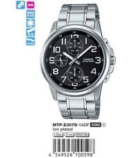 Casio แท้ รุ่น MTP-E307D-1ADF นาฬิกาผู้ชาย สายสแตนเลส