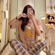 Korean Cotton Sleepwear Pajama Set for Women Nightwear