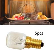 5個烤箱燈泡 25W微波爐燈泡 耐高溫300度E14小螺口喜馬拉雅鹽晶燈(25W黃銅燈頭)