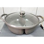 (鴛鴦火鍋)鴛鴦火鍋 鴛鴦鍋  一體成型 電磁爐可使用 鴛鴦鍋