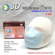 [開發票 台灣製 立體口罩 ] 台灣康匠 拋棄式 立體 醫用口罩 3層 藍色