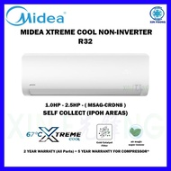 Midea Air Conditioner Non Inverter R32 1.0HP/1.5HP/2.0HP/2.5HP (MSAG-CRN8) Aircond