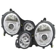 卡嗶車燈 Benz 賓士 E-CLASS W210 2000-2002 四/五門車 魚眼 大燈 電鍍