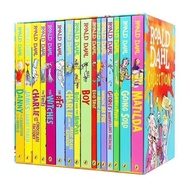 [Specail price box damaged ]Roald Dahl Collection 16 books box set,English chapter book for kids