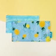 【美日袋】口罩收納袋‧長版雙層-金黃鳳梨 (防疫必備小物)