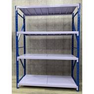 大慶二手家具 新品白色輕型鐵架/貨架/倉儲架/置物架/組合架/鐵架