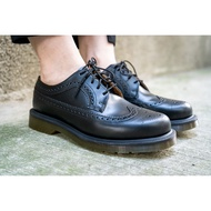 DR. MARTENS 男女 3989 SMOOTH 皮革 5孔 雕花 黑【A-KAY0】【24340001】