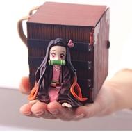 Anime Figure Nezuko Demon Slayer PVC Lying Position with Box Action Figure Collectible Model Toys Dolls Decoration yuba