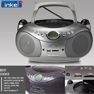 ◆Authentic◆Inkel Korea ICP-236 FM CD Radio Player Portable Cd Cassette Players Boombox