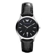 Emporio_ Armani_ Women's Classic Black Dial Leather Watch AR2412