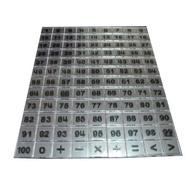 《少年》教具 積木 2 MM 數字透明片 ( 108 PCS ) 東喬精品百貨