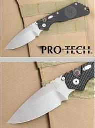<刀之林>Protech Knives Pro-Strider 戰術彈簧刀 彈孔鋁柄石洗刃