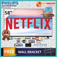 PHILIPS 58 INCH 4K UHD DOLBY VISION DVB-T2 NETFLIX YOUTUBE LED SMART TV 58PUT6604 DTTV IDTV MYTV MYFREEVIEW SUPPORTED (COURIER SERVICE)