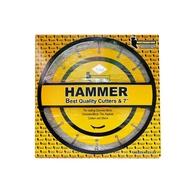 HAMMER ใบตัดเพชรตัดแห้ง ขนาด 7 นิ้ว สีเหลืองอุปกรณ์เครื่องใช้สำหรับช่าง เครื่องขัดกระดาษทรายดอกสว่านเจาะไม้
