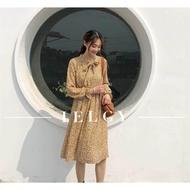 Ielgy เวอร์ชั่นเกาหลีของชุดดอกไม้ย้อนยุคอารมณ์ป่าชุดหญิง