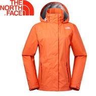【The North Face 女款 DRYVENT防水外套《橙》】2U8UUCB/衝鋒衣/防水透氣