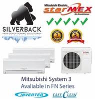 Mitsubishi Electric System 3 Aircon - MXY-3G28VA2/ FN10VE X 3