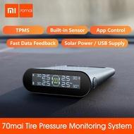 Xiaomi 70mai TPMS Tire Pressure Monitor Tpms Solar Power Usb Android USB Tmps 70 Mai Car Sensors System Alarm