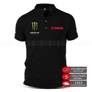 Monster Yamaha Polo T Shirt Embroidery MotoGP Motorcycle Motosikal Superbike Racing Team Casual 125Z LC135 RXZ TZM SRL