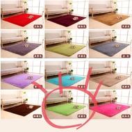 全新便宜售🌟140*200CM日式柔軟絲毛地毯 客廳臥室床邊廚房地毯地墊 居家遊戲軟墊