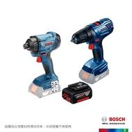 【BOSCH 博世】18V電鑽/衝擊雙機 GSR + GDR 180-LI 4.0A (不含充電器)