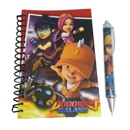 BOBOIBOY GALAXY A6 NOTE BOOK WITH BALL SET
