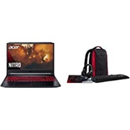 """Acer Nitro 5 Gaming Laptop, AMD Ryzen 5 4600H Hexa-Core Processor, NVIDIA GeForce GTX 1650 Ti, 15.6"""" Full HD IPS Display, 8GB DDR4, 256GB NVMe SSD with Acer Nitro Gaming 5-in-1 Accessory Bundle"""