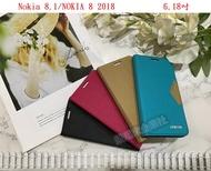 【日系無印風】Nokia 8.1/NOKIA 8 2018 6.18吋 隱形磁扣皮套 可立式 保護套